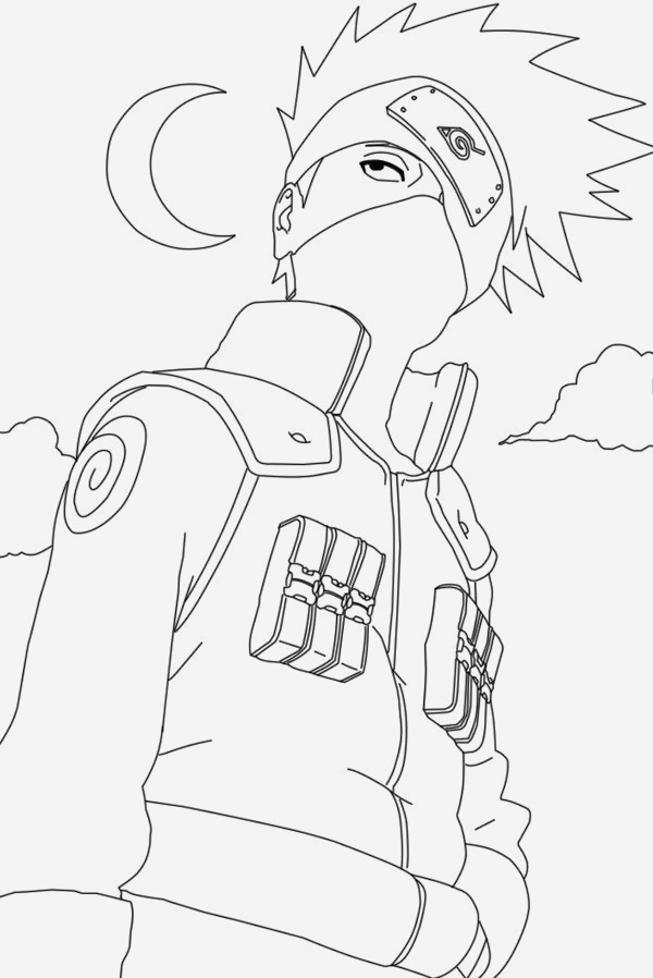 Coloriage Naruto Shippuden Lovely Naruto Kakashi Coloring Pages Of Coloriage Naruto Shippuden