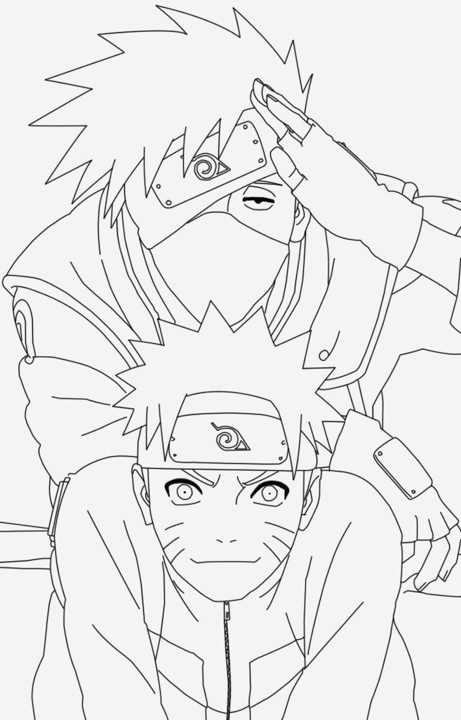 Coloriage Naruto Shippuden Unique Naruto and Kakashi Coloring Pages Of Coloriage Naruto Shippuden