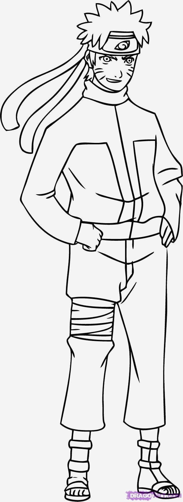 Naruto Drawing Coloring Pages