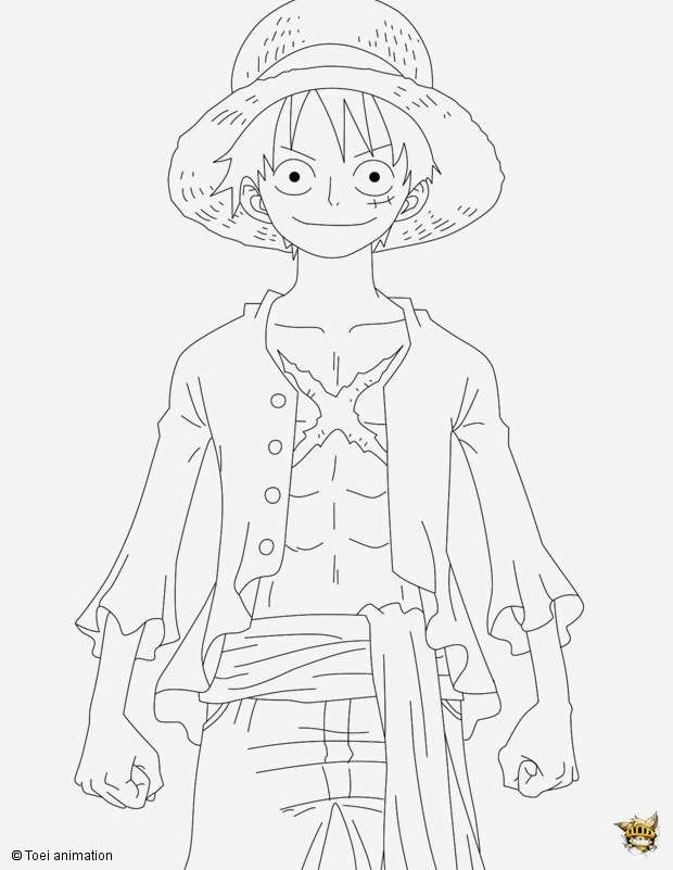 Coloriage One Piece à Imprimer Best Of Luffy En Position Est Un Coloriage De E Piece Of Coloriage One Piece à Imprimer