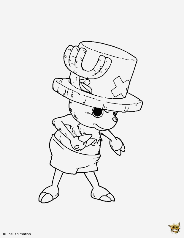 Coloriage One Piece à Imprimer Fresh tony tony Chopper Est Un Coloriage De E Piece Of Coloriage One Piece à Imprimer