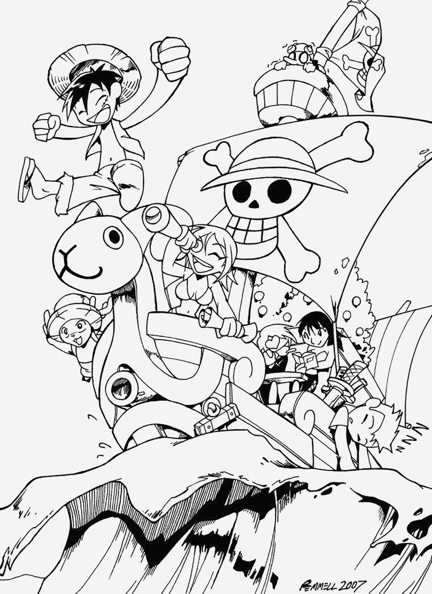 Coloriage One Piece à Imprimer Inspirational E Piece Free to Color for Kids E Piece Kids Coloring Pages