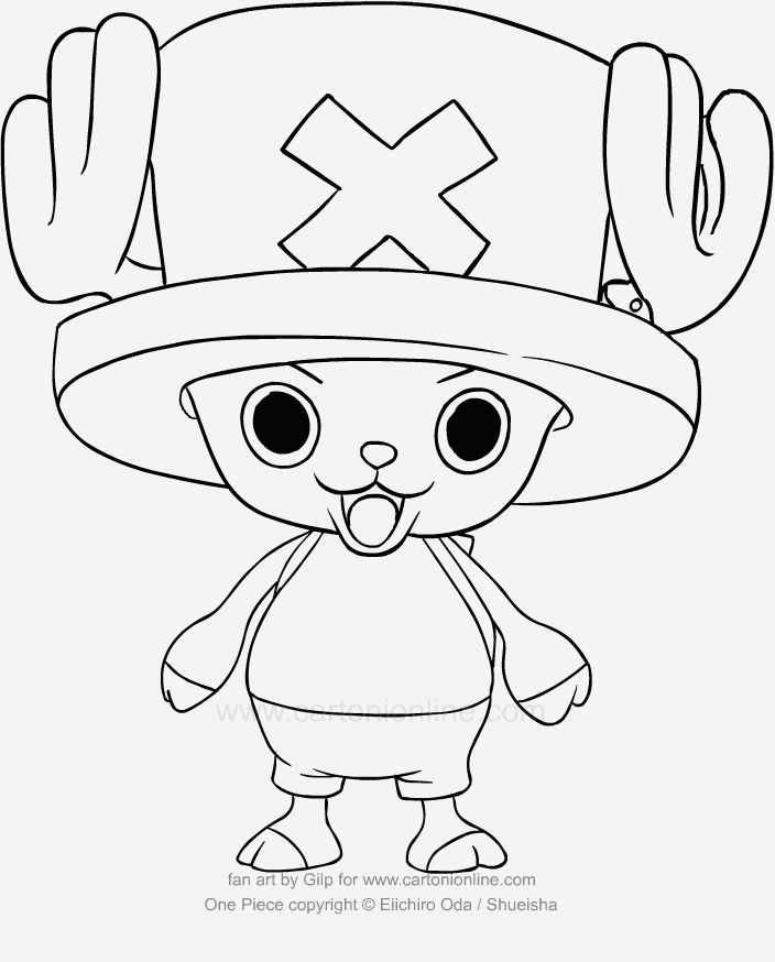 Coloriage One Piece à Imprimer Unique Coloriage De tonytony Chopper Di E Piece Of Coloriage One Piece à Imprimer