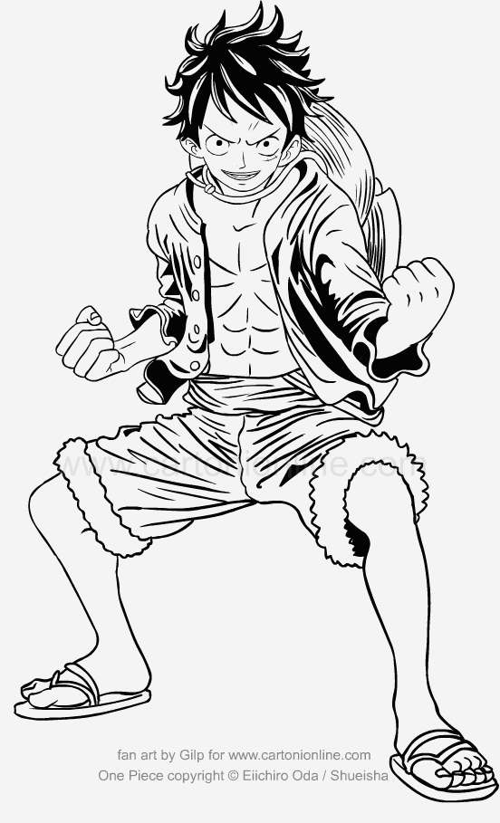 Coloriage One Piece Luffy Coloriages Gratuits