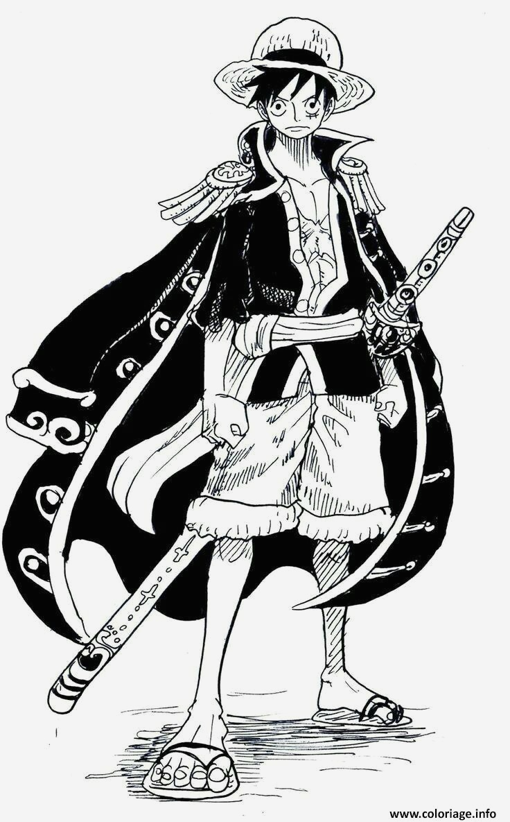 Coloriage One Piece Luffy Unique Coloriage Monkey D Luffy Cool Outfit E Piece Manga Dessin Of Coloriage One Piece Luffy