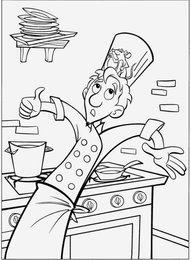 Coloriage Ratatouille Unique Coloriage 3 De Ratatouille Of Coloriage Ratatouille