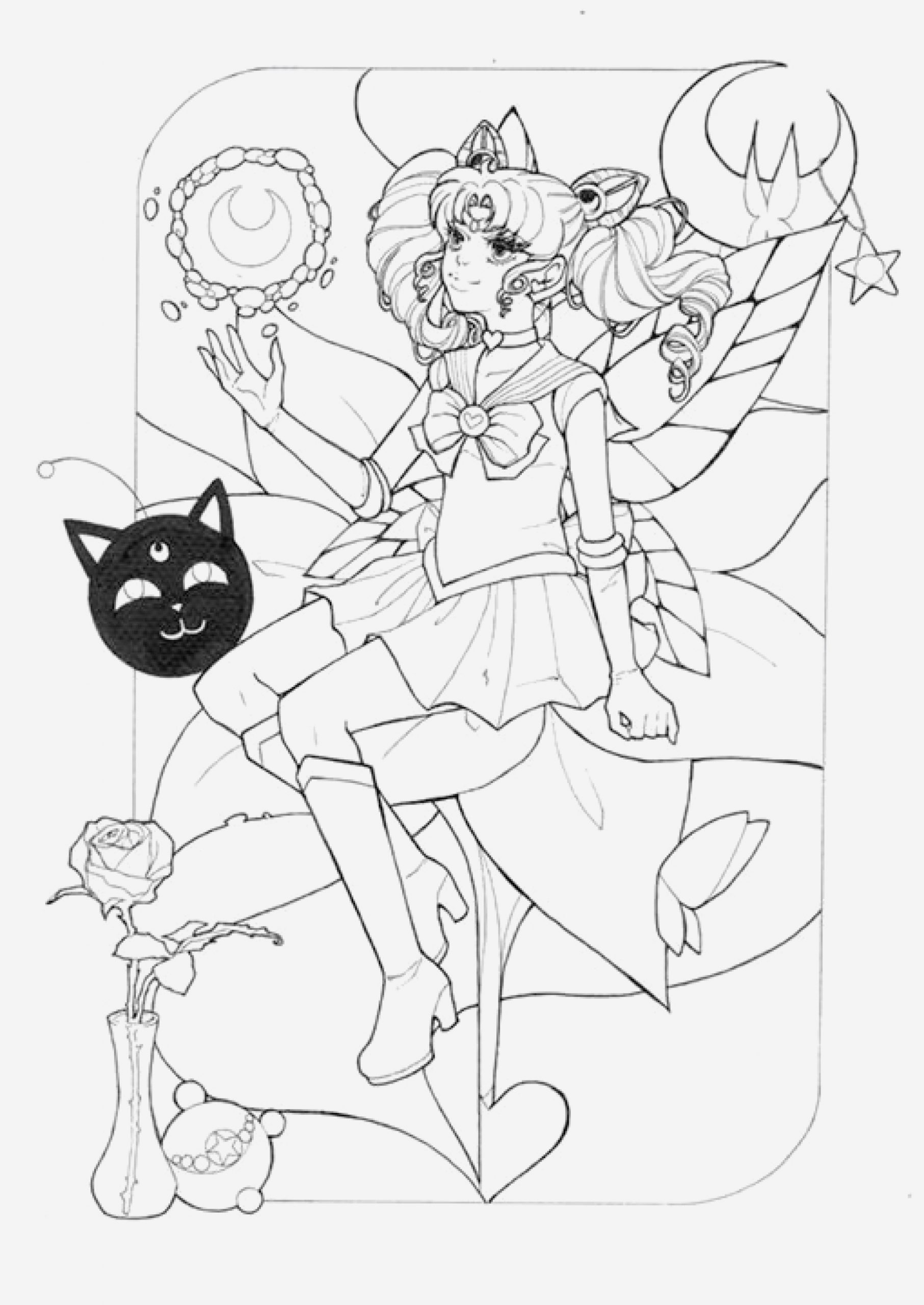 Coloriage Sailor Moon A Imprimer Awesome Princesse Sailor Moon Par Dar Chan   Imprimer Artherapie