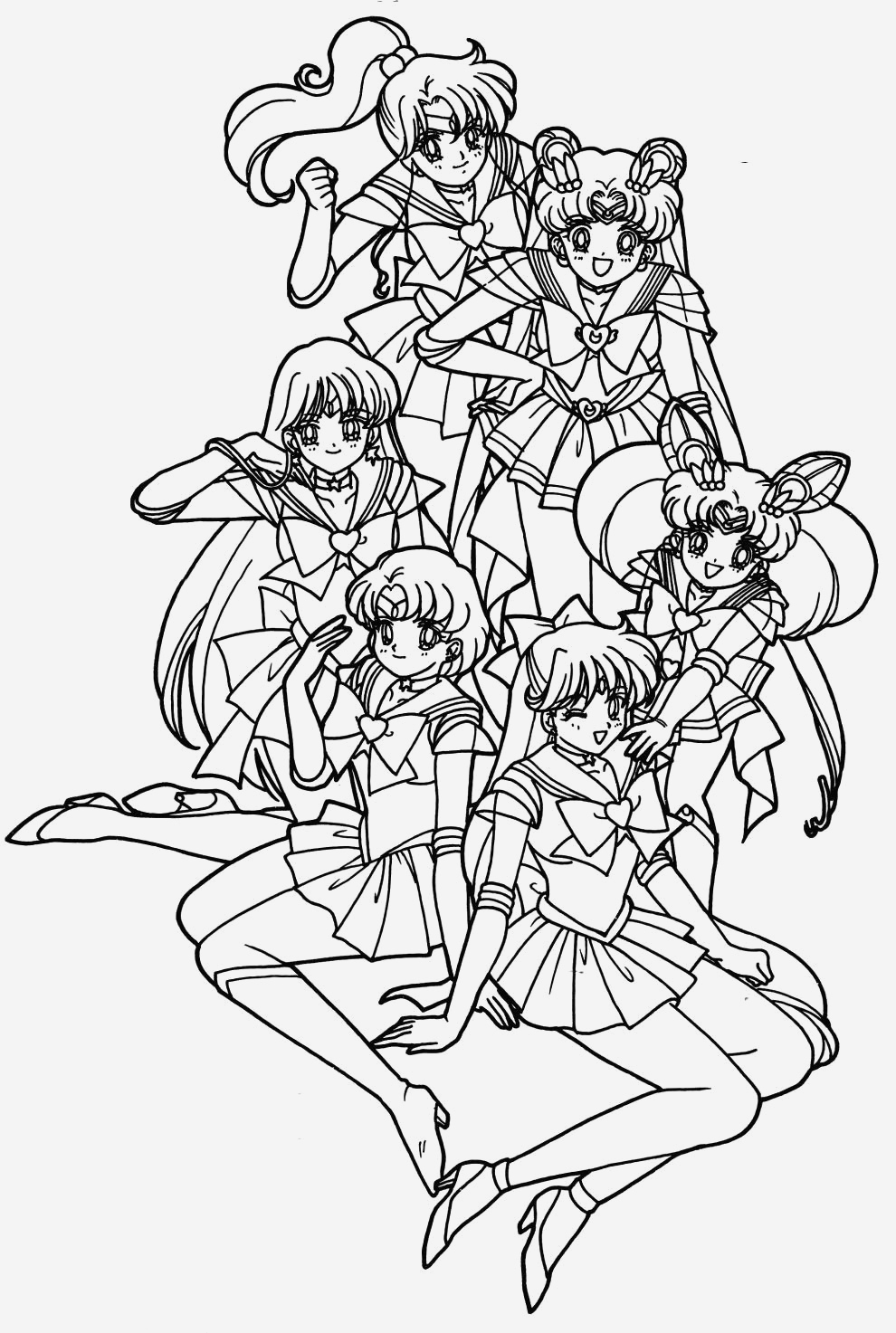 Coloriage Sailor Moon A Imprimer Inspirational Sailor Moon Really Like with Her Friend Coloring Pages Of Coloriage Sailor Moon A Imprimer