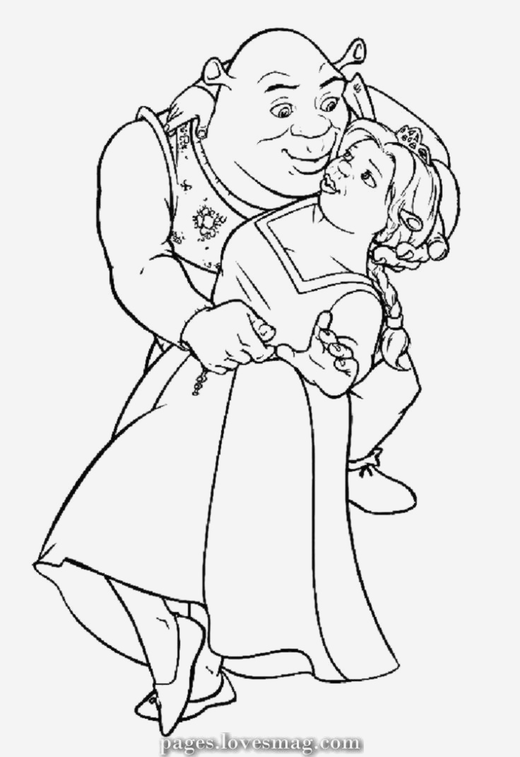 Coloriage Shrek Et Fiona Elegant Excellent Coloring Pages Of Shrek Of Coloriage Shrek Et Fiona