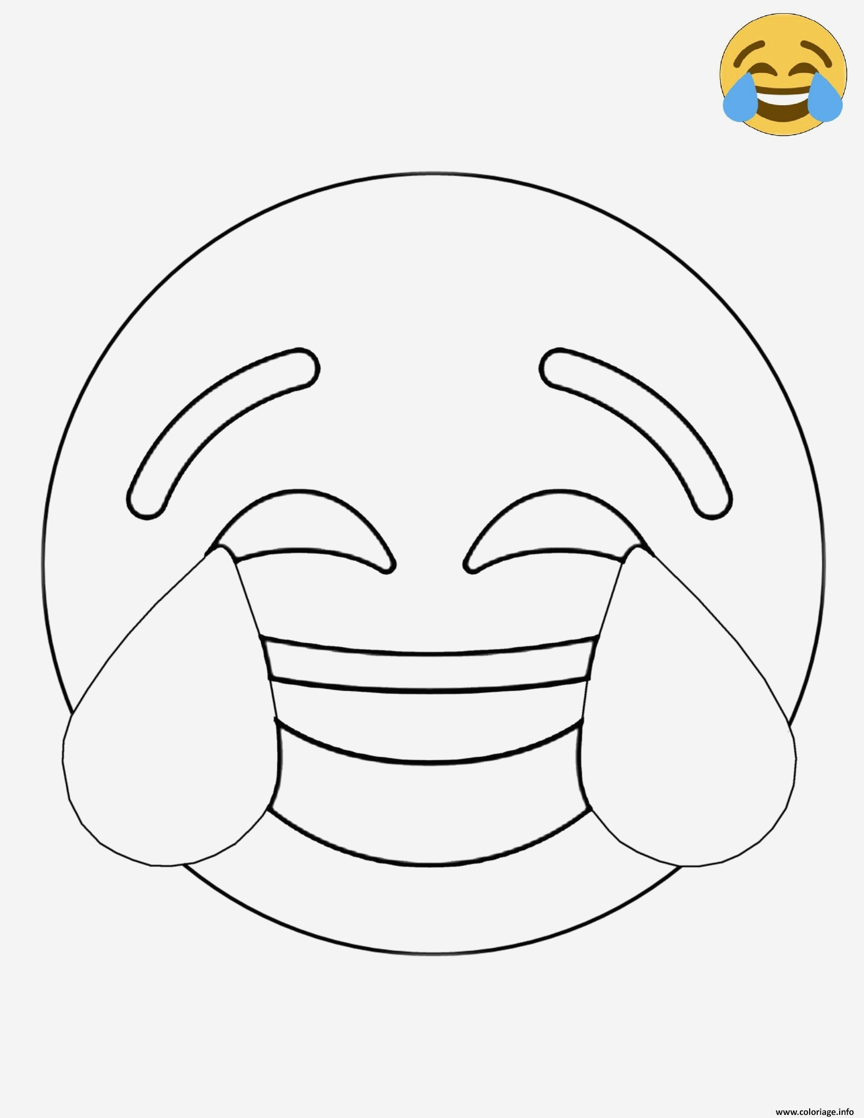 Coloriage Smiley à Imprimer Gratuit Best Of Coloriage Twitter Crying Laughing Emoji Dessin Of 25 Coloriage Smiley à Imprimer Gratuit