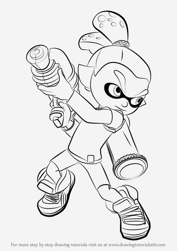 Coloriage Splatoon New Squid Splatoon 2 Coloring Pages Of Coloriage Splatoon