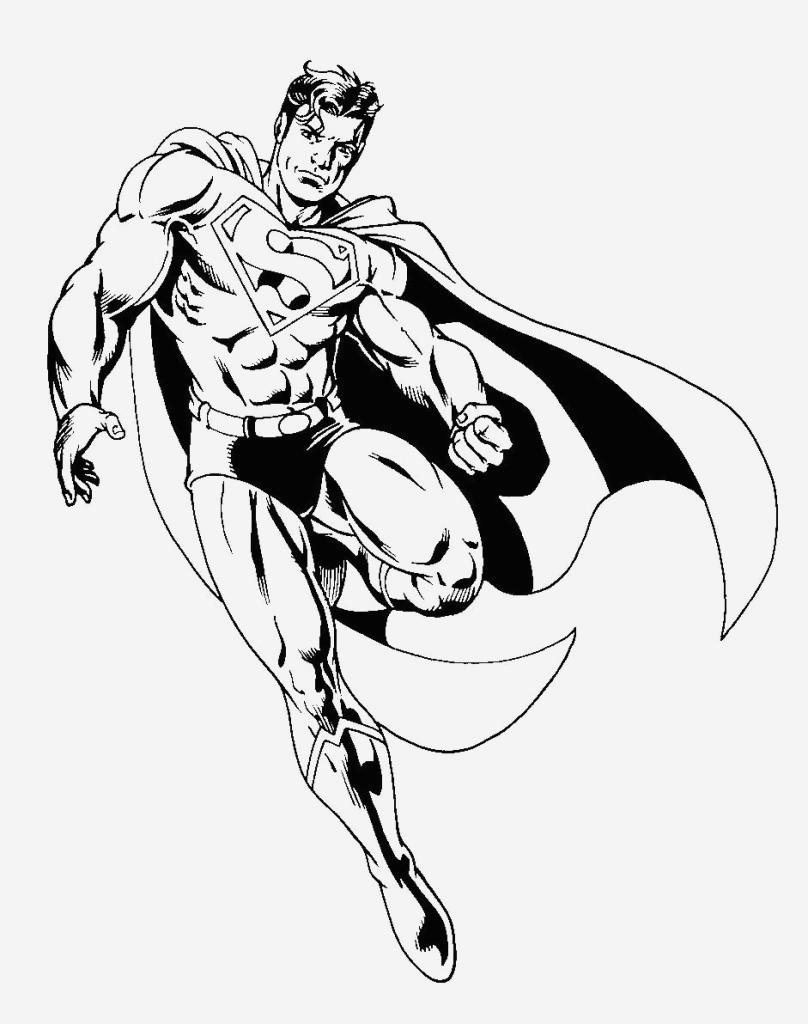 Coloriage Superman à Imprimer Gratuit Inspirational Superman 35 Super Héros – Coloriages   Imprimer Of Coloriage Superman à Imprimer Gratuit