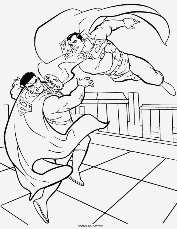 Coloriage Superman à Imprimer Gratuit Luxury Coloriage Superman Contre Un Méchant   Imprimer Of Coloriage Superman à Imprimer Gratuit