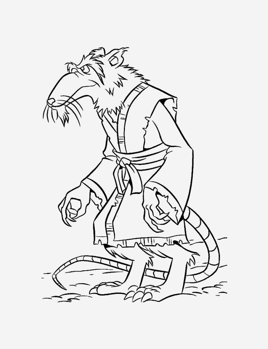Coloriage tortue Ninja à Imprimer Gratuit Best Of Rat 34 Animals – Printable Coloring Pages Of Coloriage tortue Ninja à Imprimer Gratuit