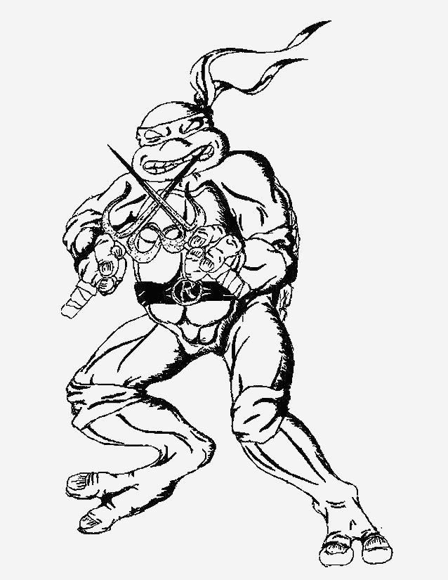 Coloriage tortue Ninja à Imprimer Gratuit Lovely Ninja Turtles 101 Superheroes – Printable Coloring Pages Of Coloriage tortue Ninja à Imprimer Gratuit