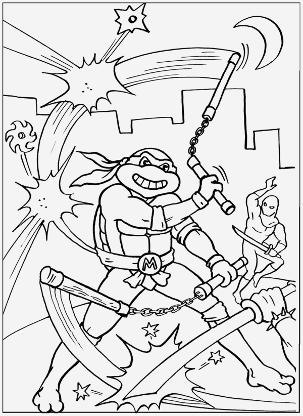 Coloriage tortue Ninja Michelangelo Fresh Pages   Colorier Des tortues Ninja 100 Dessins Imprimer Of 75 + Coloriage tortue Ninja Michelangelo