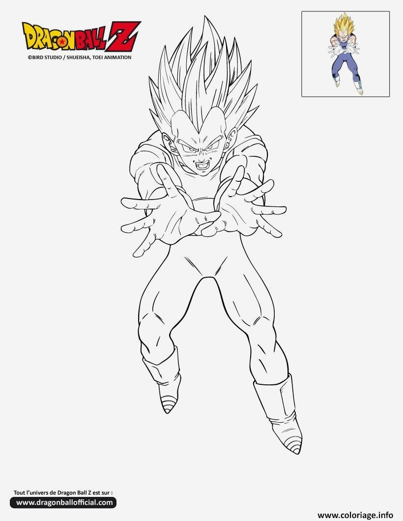 Coloriage Vegeta A Imprimer Luxury Coloriage Dbz Ve O Dragon Ball Z Ficiel Dessin