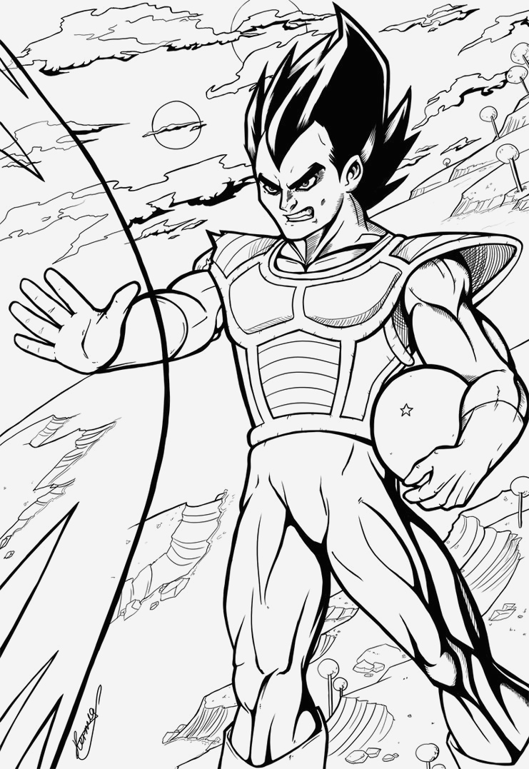Coloriage Vegeta A Imprimer New Ve A Coloriage Ve A De Dragon Ball Z   Imprimer Of Coloriage Vegeta A Imprimer
