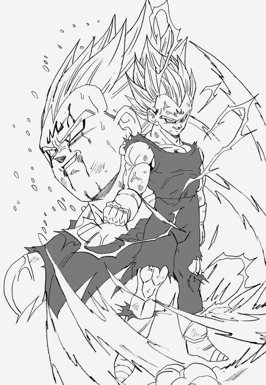 Coloriage Vegeta A Imprimer Unique Majin Ve A Dragon Ball Of Coloriage Vegeta A Imprimer