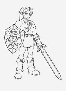 Coloriage Zelda Breath Of the Wild Awesome Free Printable Zelda Coloring Pages for Kids