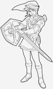 Coloriage Zelda Twilight Princess Fresh Free Zelda Coloring Pages with Images