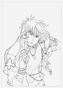 Coloriage Zelda Twilight Princess Lovely Manga Anime Coloring Pages for Adults