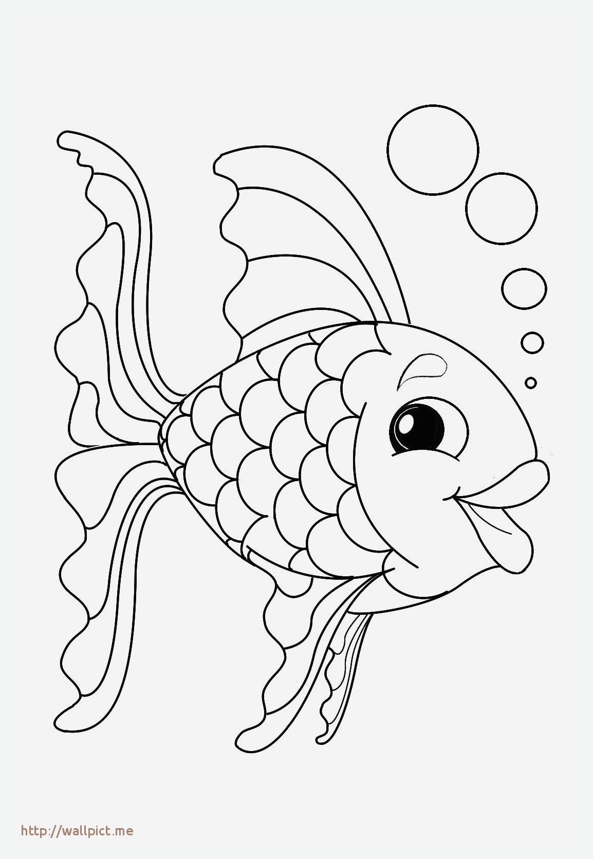 Poisson Avril Coloriage