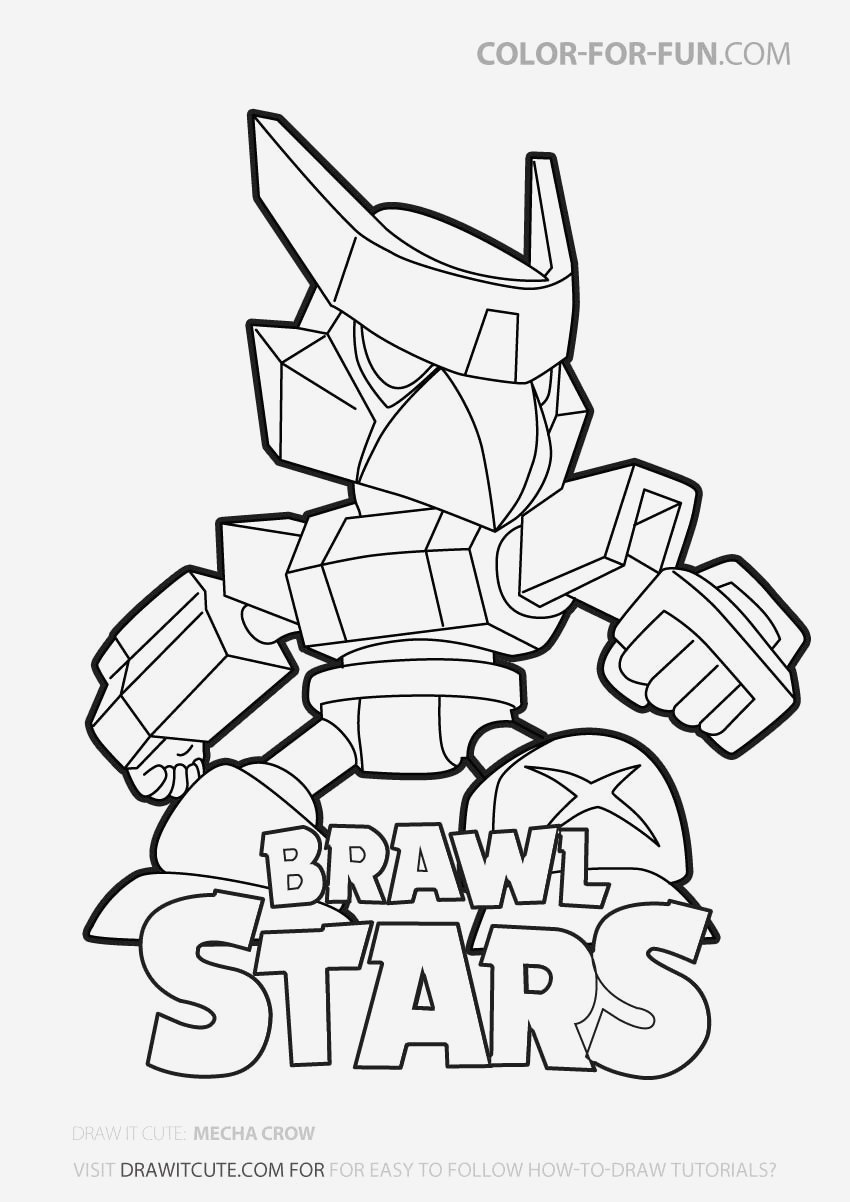 Coloriage Brawl Stars Best Of 25 Best Looking for Brawl Stars Mecha Crow Drawing Of Coloriage Brawl Stars