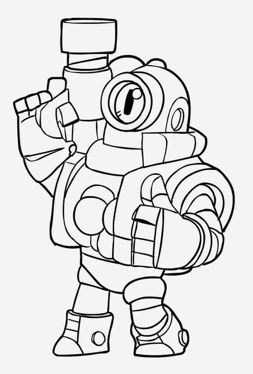 Coloriage Brawl Stars Lovely Brawl Stars Coloring Pages Leon Rico From Brawl Stars Of Coloriage Brawl Stars
