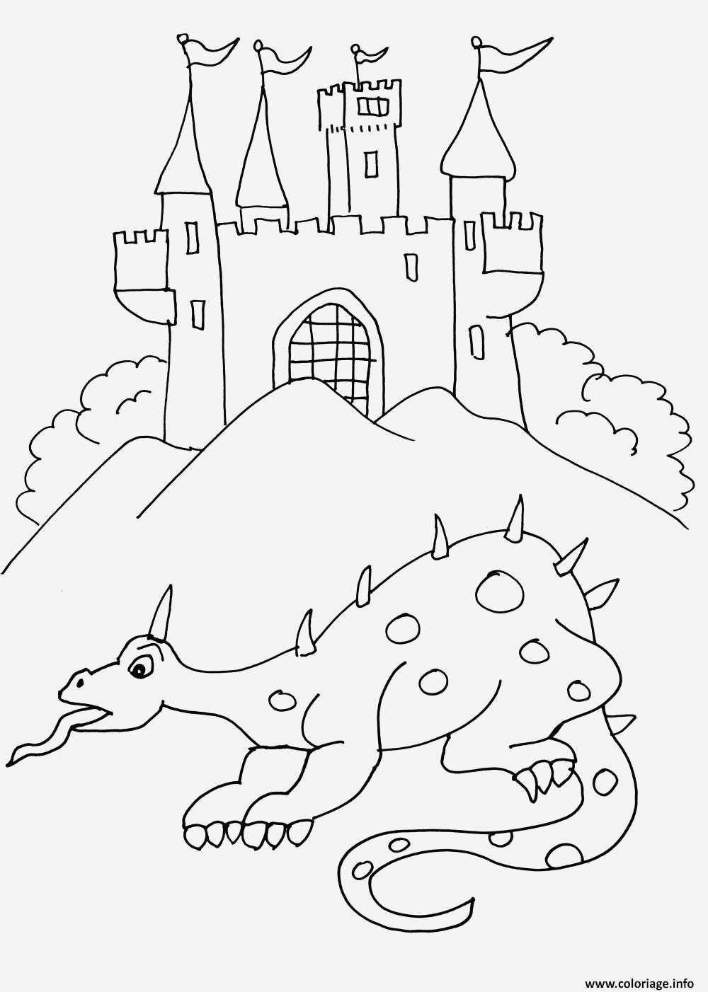Coloriage Chateau Princesse Awesome Coloriage Chateau De Chevalier 8 Dessin