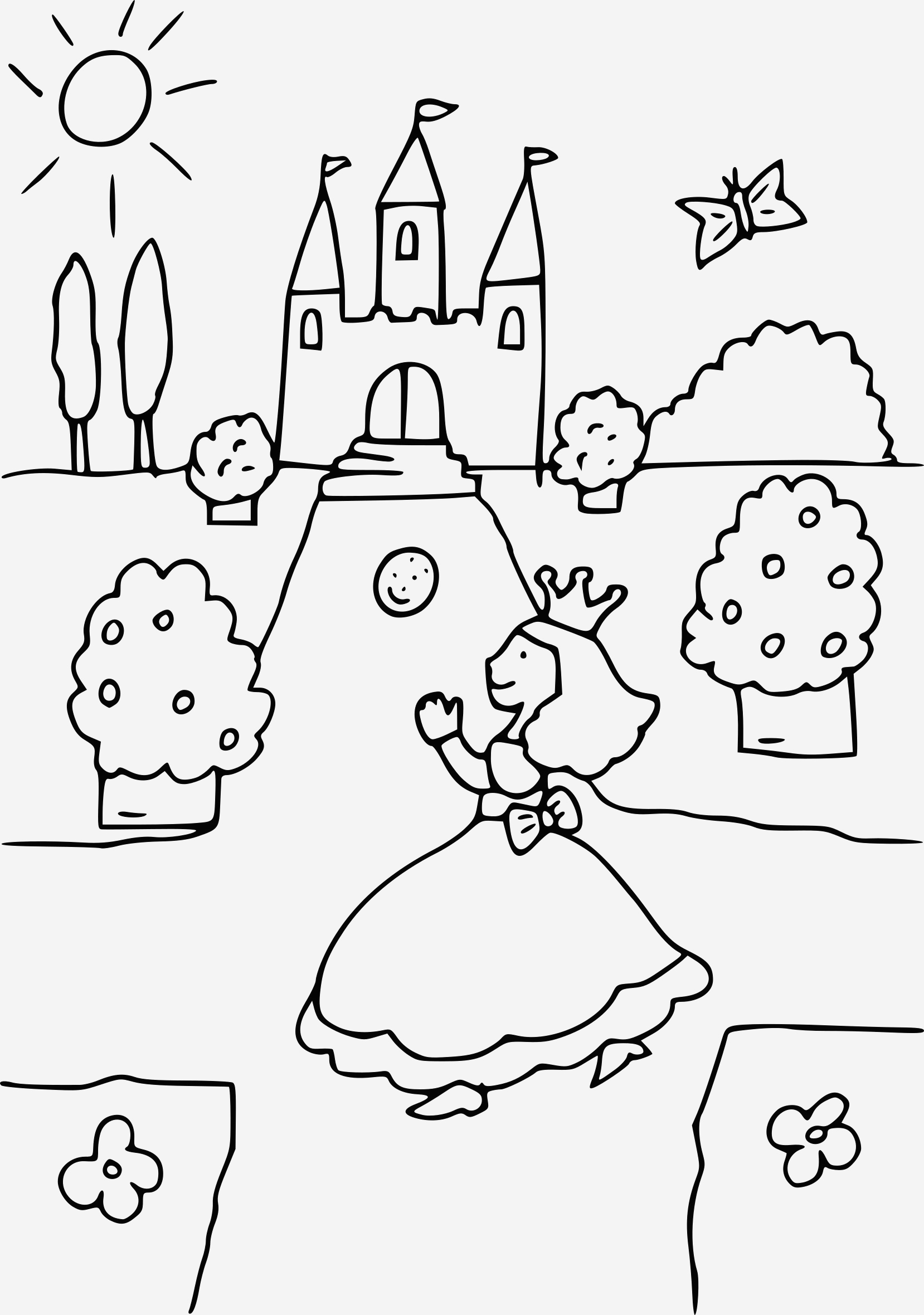 Coloriage Chateau Princesse Awesome Coloriage Princesse Chateau   Imprimer Sur Coloriages Fo Of Coloriage Chateau Princesse