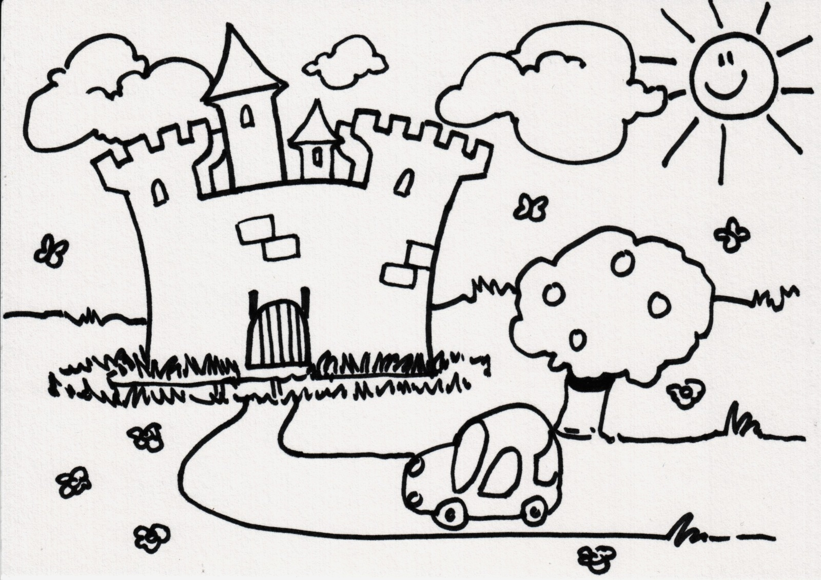 Coloriage Chateau Princesse Fresh Dessin   Colorier Magique Chateau fort Of Coloriage Chateau Princesse