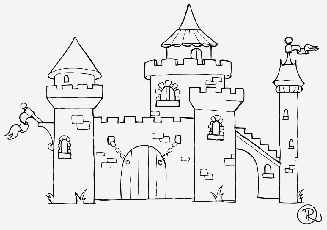 Coloriage Chateau Princesse New Chateau 141 B¢timents Et Architecture – Coloriages   Imprimer Of Coloriage Chateau Princesse