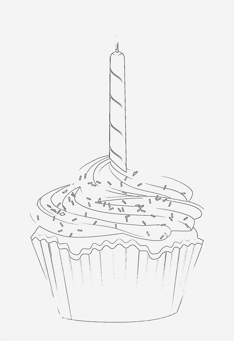 Coloriage Cupcake à Imprimer Elegant Birthday Cupcake Aol Image Search Results Of Coloriage Cupcake à Imprimer