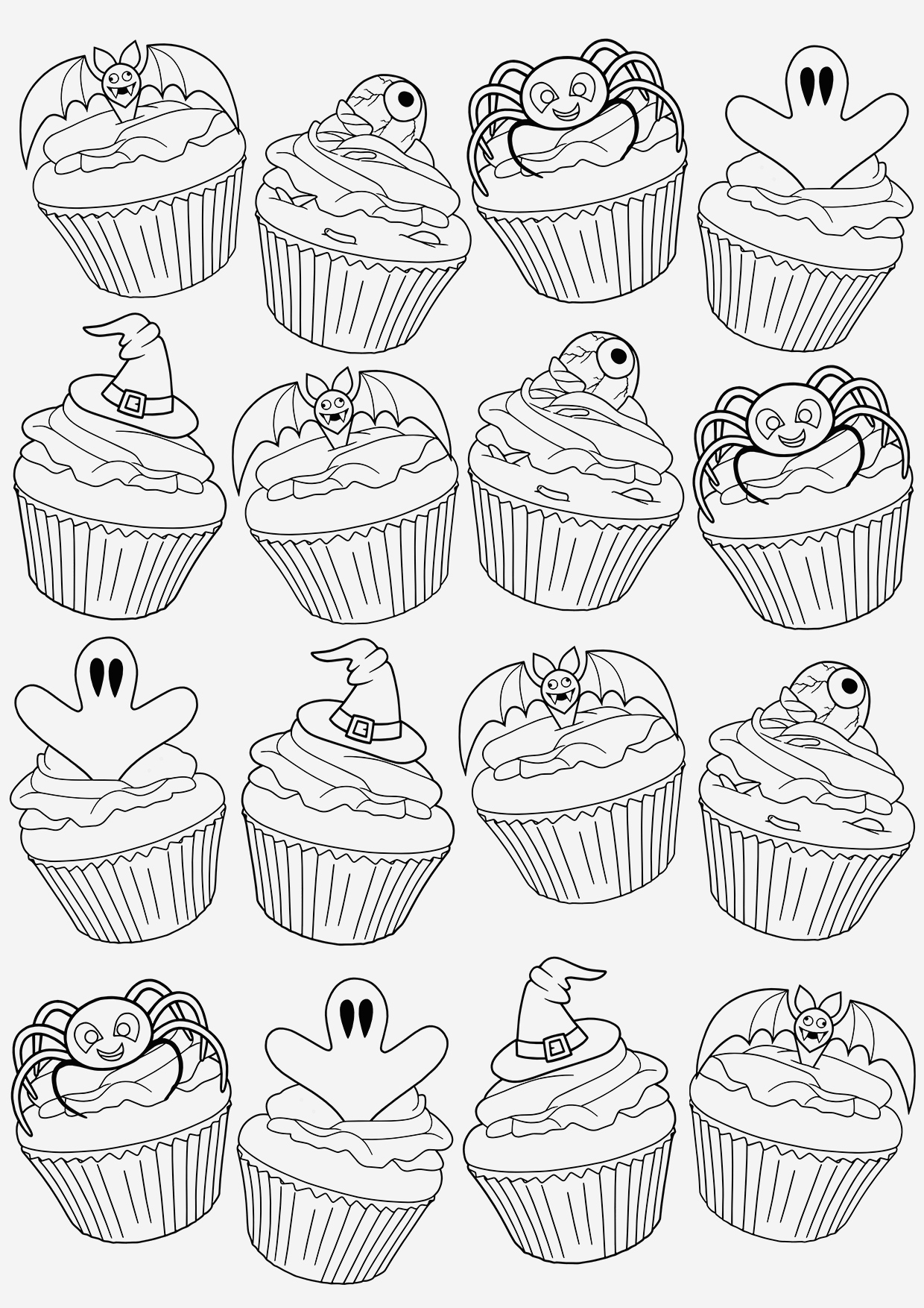Coloriage Cupcake à Imprimer Inspirational Cupcakes and Cakes Coloring Pages Of Coloriage Cupcake à Imprimer