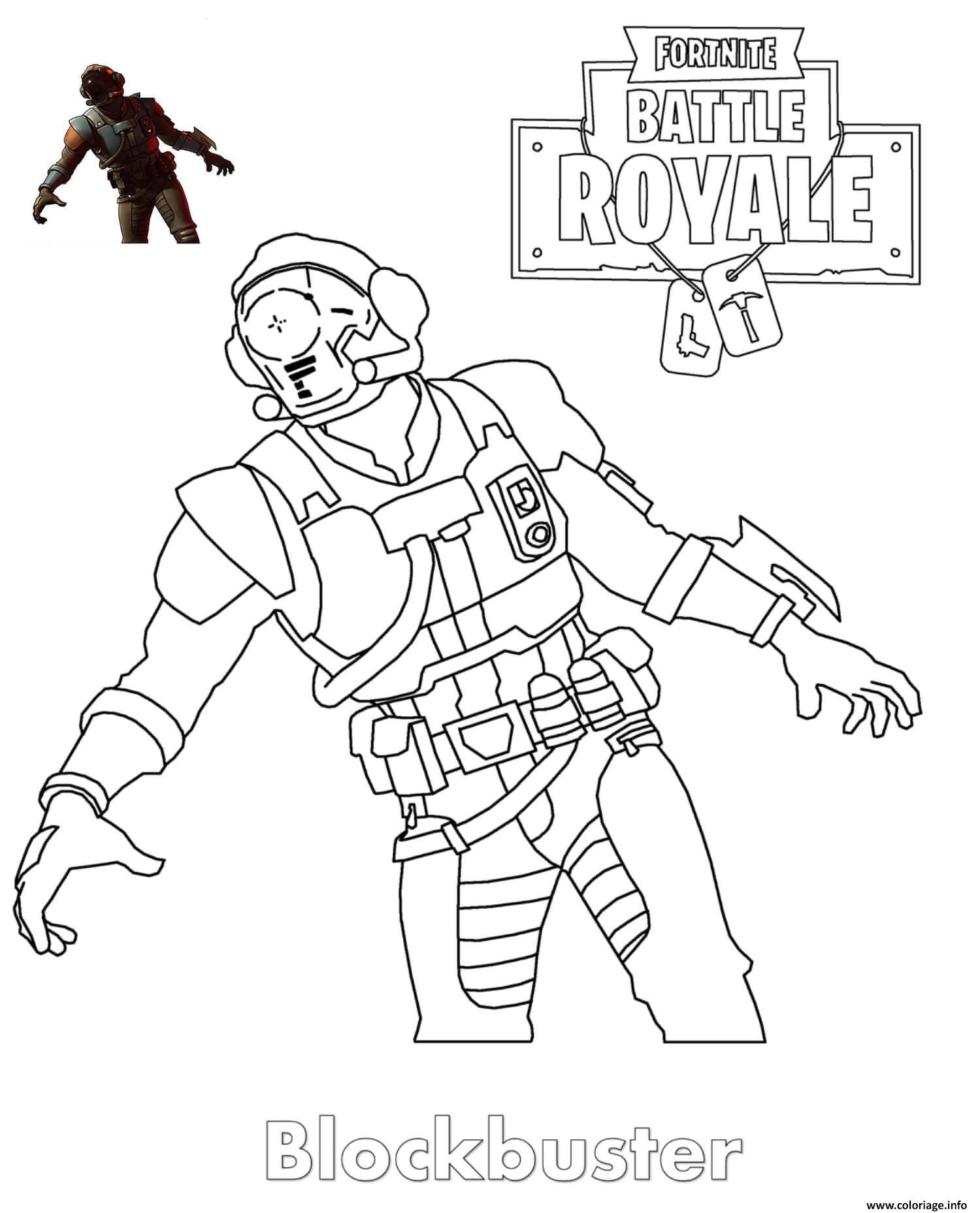 Coloriage De fortnite A Imprimer Gratuitement Best Of Coloriage Blockbuster fortnite Skin Jecolorie Of Coloriage De fortnite A Imprimer Gratuitement