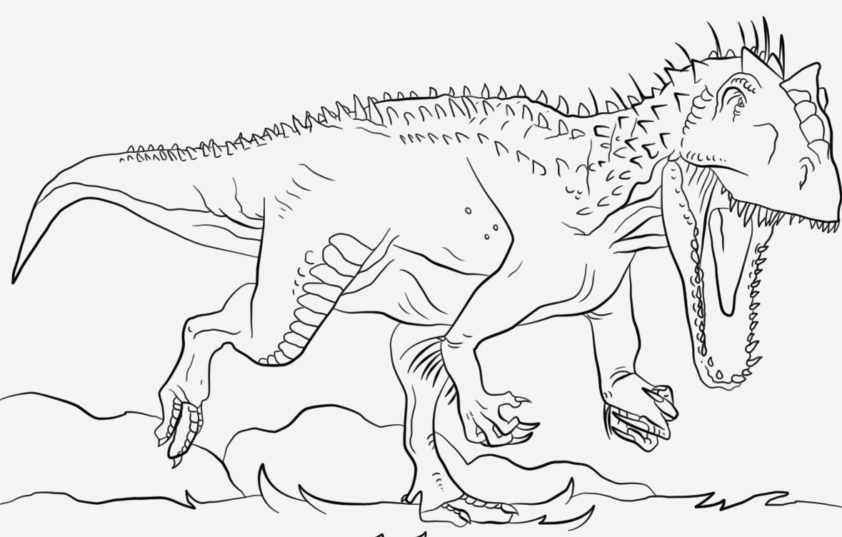 Coloriage Dinosaure Raptor Fresh This is Dinosaur Jurassic Park Indominus Rex Coloring Page Of Coloriage Dinosaure Raptor
