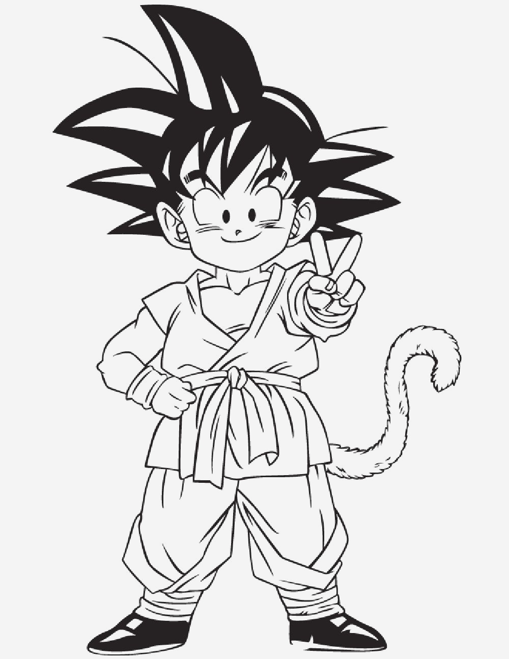 Coloriage Dragon Ball Z Sangoku Coloriages Gratuits