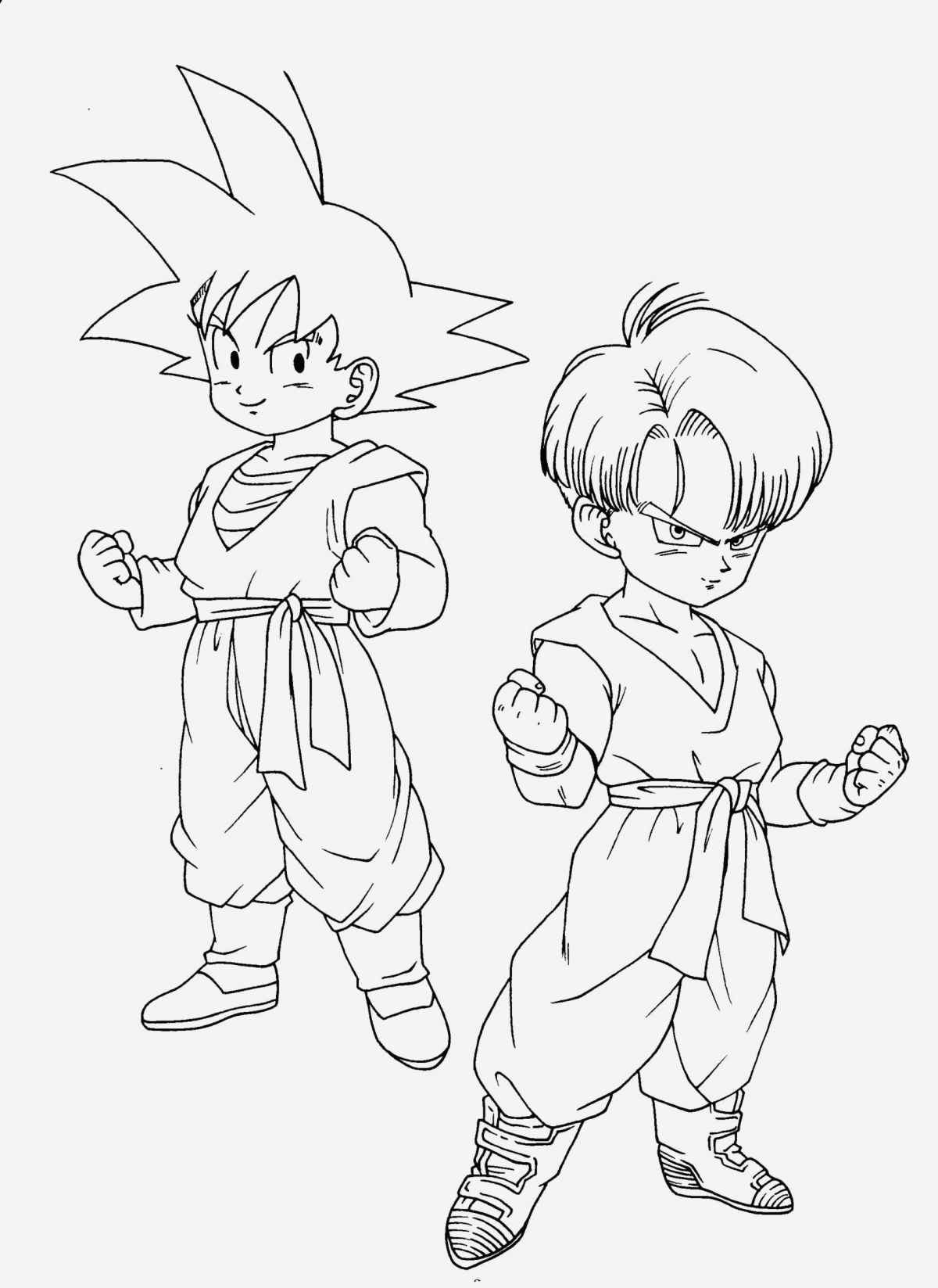 Coloriage Dragon Ball Z Super