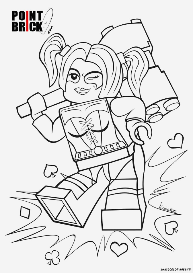 Coloriage Harley Quinn Suicid Squad Beautiful Harley Quinn Batman Lego Movie Coloring Pages Printable Of Coloriage Harley Quinn Suicid Squad