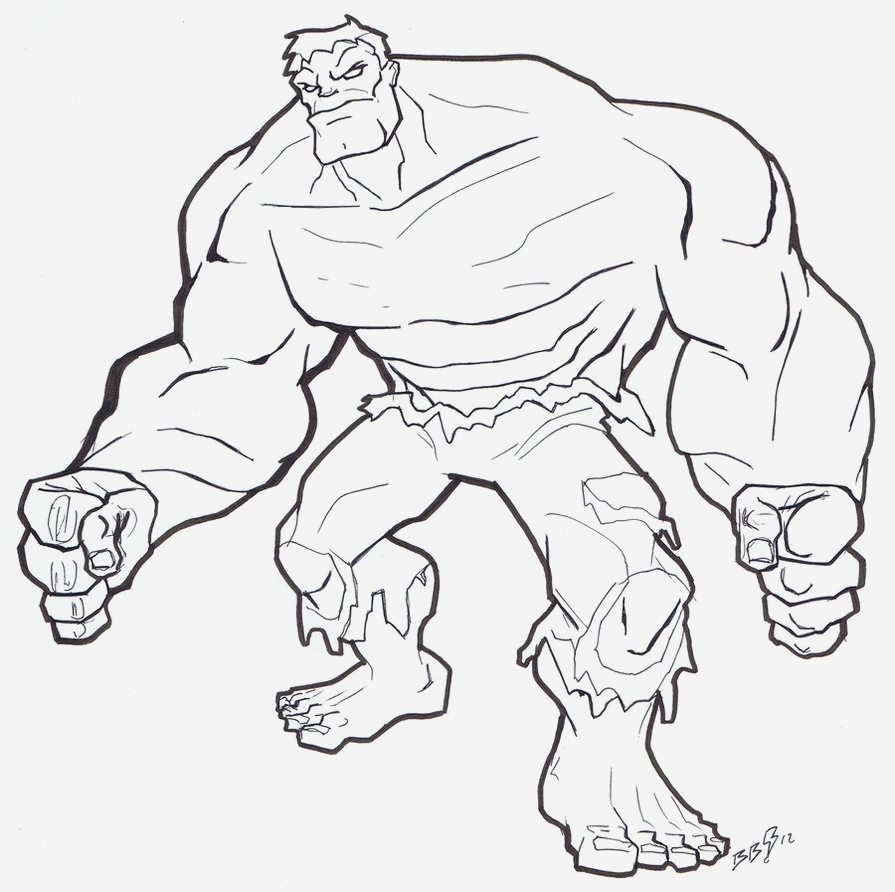 Coloriage Hulk Awesome Free Printable Hulk Coloring Pages for Kids Of Coloriage Hulk