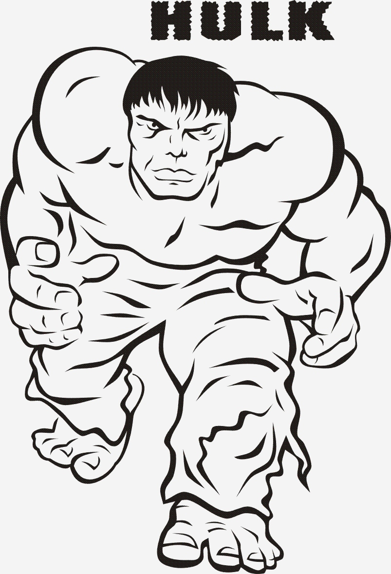 Coloriage Hulk Lovely Hulk 1 Super Héros – Coloriages   Imprimer Of Coloriage Hulk