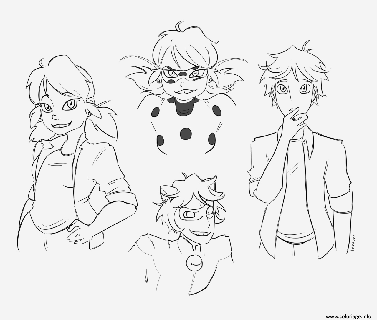 Coloriage Ladybug Miraculous Awesome Coloriage Personnages Demiraculous Ladybug Chat Noir Of Coloriage Ladybug Miraculous