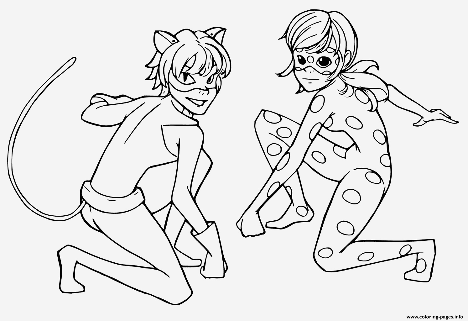Coloriage Ladybug Miraculous Unique Miraculous Tales Ladybug Black Cat Coloring Pages Printable Of Coloriage Ladybug Miraculous