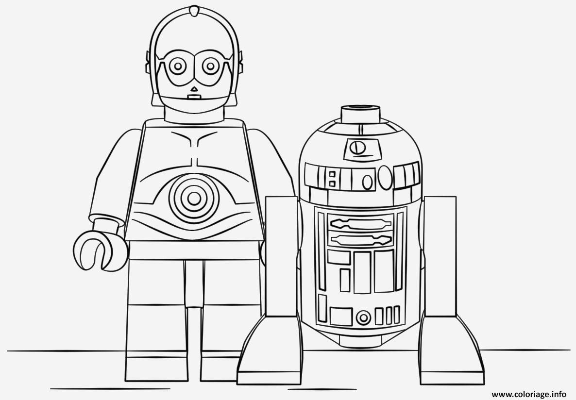 Coloriage Lego Star Wars Elegant Coloriage Lego Star Wars R2d2 and C3po Jecolorie Of Coloriage Lego Star Wars