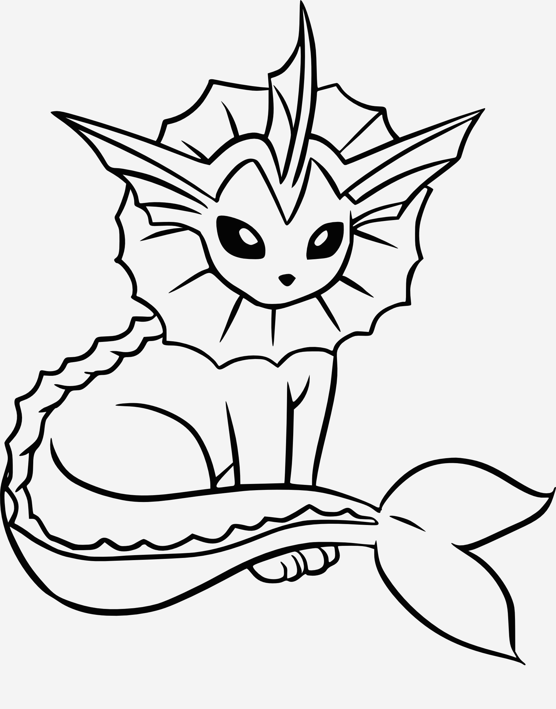 Coloriage Pokemon Evoli Fresh √ Coloriage Aquali Pokemon Imprimer Of Coloriage Pokemon Evoli