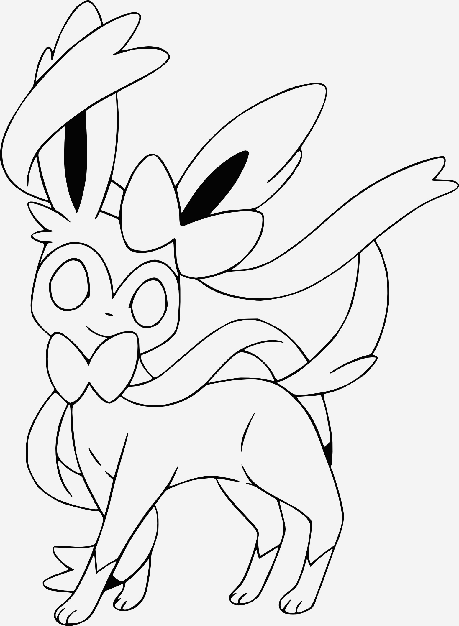 Coloriage Pokemon Evoli Inspirational Coloriage Nymphali Pokemon X Et Y Gratuit   Imprimer Of Coloriage Pokemon Evoli