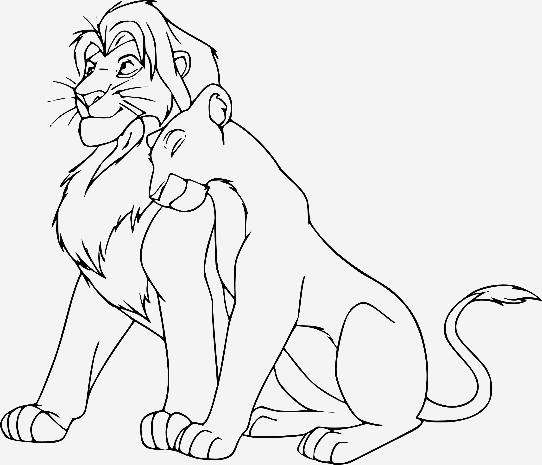 Coloriage Simba A Imprimer Gratuit Awesome Coloriage Simba Et Nala   Imprimer Et Colorier