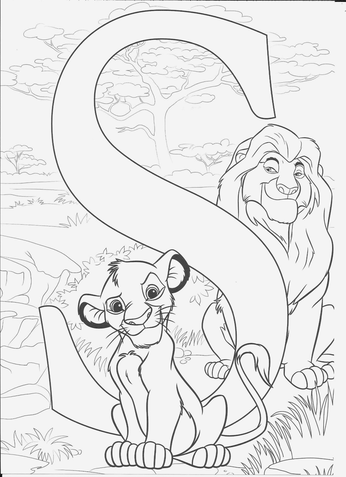 Coloriage Simba A Imprimer Gratuit Best Of Simba S Coloring Page