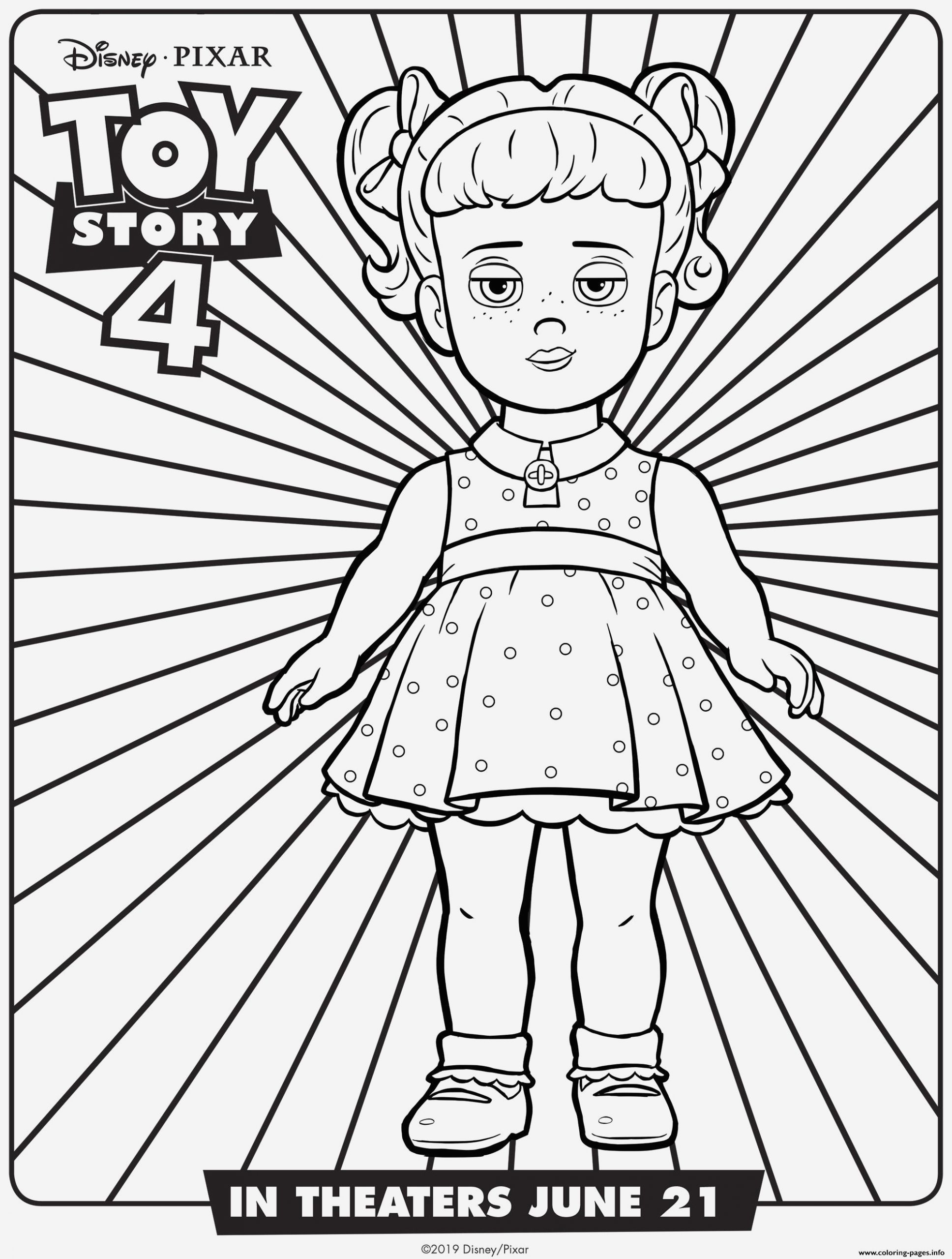 Coloriage toy Story 4 Fresh toy Story 4 Gabby Gabby Coloring Pages Printable